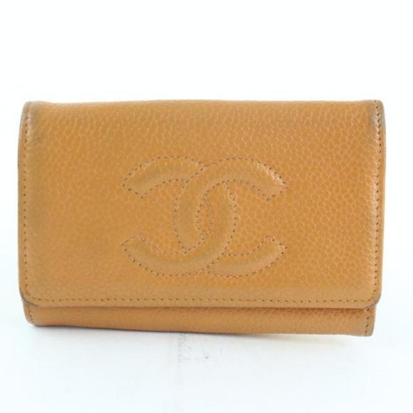 e24a52cac13306 Chanel Handbags - Chanel Burnt Caviar 6 Key Holder Case 228799. bagriculture